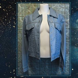 🎆Flash Sale! Leather Studded Cropped Jacket